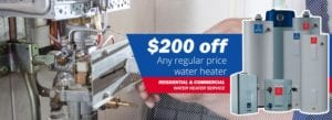 Tankless Water Heaters or Tank water heating repair